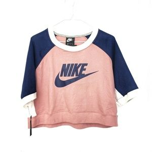 🔥Host Pic! Nike Women XL Colorblock PinkCrop Top